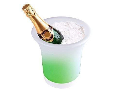 DRULINE LED Weinkühler Sektkühler Flaschenkühler Eiseimer Mehrfarbig Eiswürfel Bunt, Innendurchmesser: ca. 9,5 cm - 11 cm