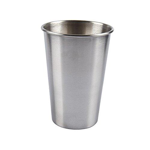 Hejia Edelstahl Metall Bierbecher Wein Becher Kaffee Tee Milk Becher Home 30 ml/70 ml/180 ml/320 ml, 180ml, 1* Stainless Steel Cup