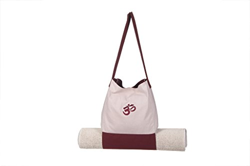 Kanyoga Avorio and canapa Meditazione Cuscino Cotone Mix Om Bag With Mat(30cm x 30cm), 1 Pezzo