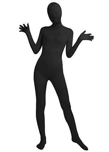 Schwarz Kostüm Bodysuit - Frauen-Fit Ganzanzug Spandex One Piece Ganzkörper Zentai Kostüm Lycra Bodysuit (M, black)