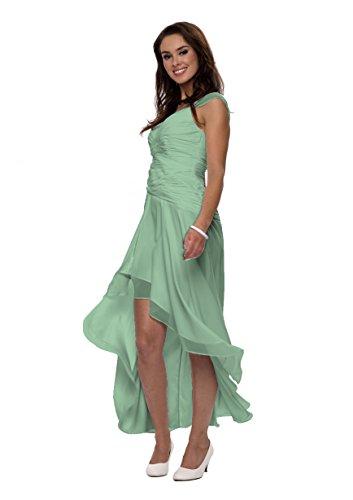 Astrapahl Damen Cocktail Kleid mit schönen Raffungen, Knielang Grün (Seegrün)
