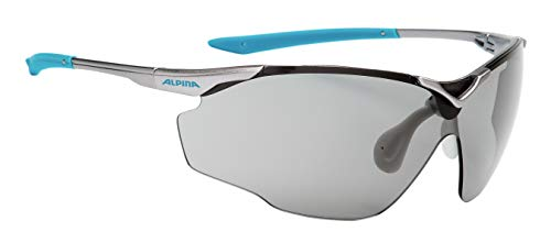 Alpina Sonnenbrille Performance SPLINTER SHIELD VL Sportbrille, titan-cyan, One Size