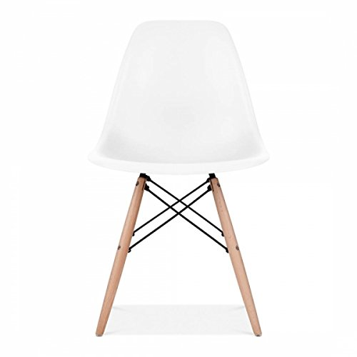 White DSW Dining Chair, Designer chair