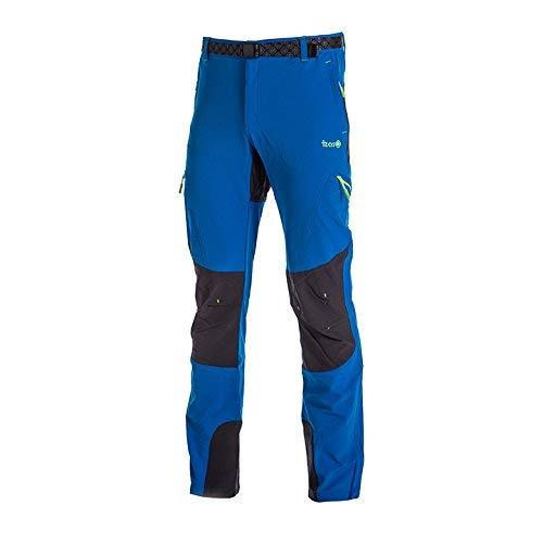Izas Espes Pantalones Mount-Stretch, Hombre, Azul Cian/Gris Oscuro, S