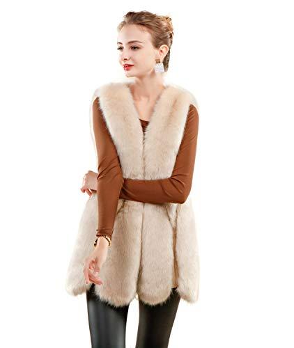 FOLOBE Womens 'Soft Faux Fur Weste Erwachsene Weste Jacke