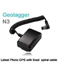 Solmeta Geotagger N3-a is camera GPS receiver & Shutter Release for Nikon D5, D810A, D810, D800, D800E, D4, D3-series, D700, D300s, D300, D2x, D2xs, D2Hs, D200