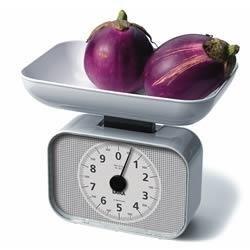 Balanza cocina KS2001.Mecánica. Blanca.Capacidad: 10 kg. Graduación: 50 g.