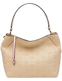 bf69ba8fde968 MCM Damen Handtasche Klara Monogrammed Leather MED Latte Beige