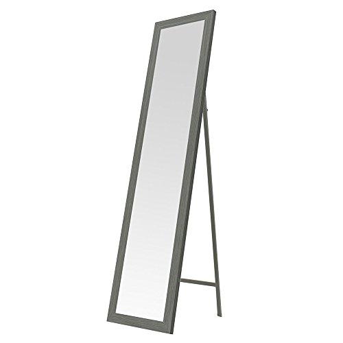 Espejo de pie nórdico gris de madera para dormitorio de 37 x 157 cm Arabia