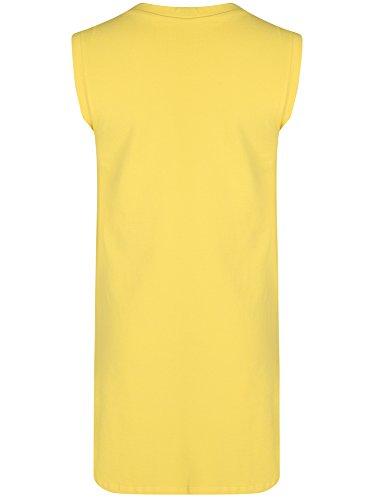 oodji Ultra Damen Pique-Kleid Gelb (5200N)