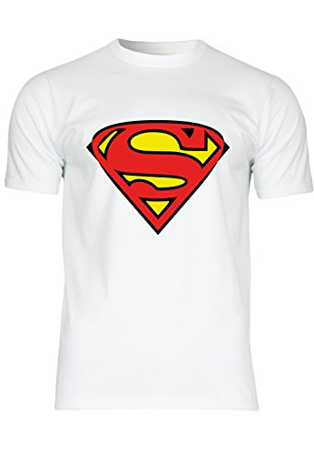 M91 F140 Herren T-Shirt mit Motiv Superman, (Kostüme Superman Lycra)