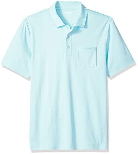 Amazon Essentials Regular-Fit Jersey polo-shirts, Aqua, US L (EU L) -