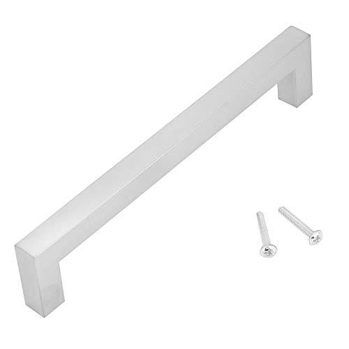 Zerone 12mm 304 Edelstahl Weiß Schrankgriff Einfacher Stil Möbeltür Zubehör(160mm)