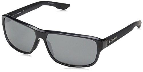 Columbia Men's Ridgestone Rectangular Sunglasses, Crystal Shark, 62 mm