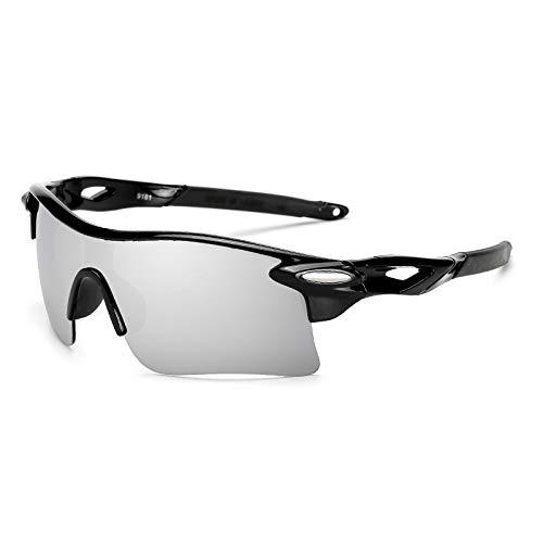 kamier Außensportspiegel explosionsgeschützte Reitbrille winddichte Sonnenbrille Fahrradbrille schwarz grau