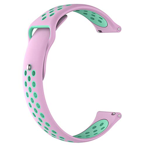 Hengzi Weiche Silikonband Handschlaufe 20mm für Garmin Forerunner 245 / 245M Smart Watch (A) Forerunner Bike Mount