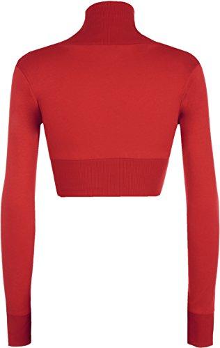 WearAll - Boléro à manches longues simple - Hauts - Femmes - Grandes tailles 44 à 54 Rouge