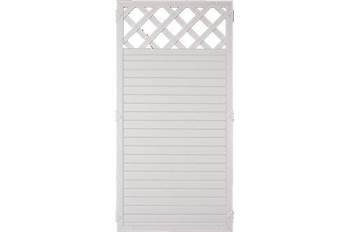 Sichtschutzzaun Kunststoff Gitter weiß 90 x 180 cm (Serie Juist)