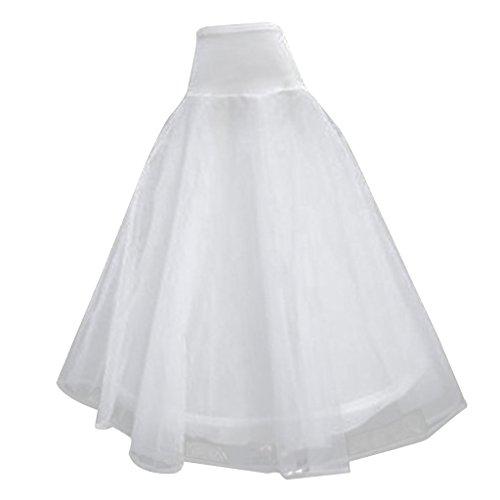 1 Reifen zwei Layers Hochzeit Ball Kleid Knochen lange Krinoline Petticoat -