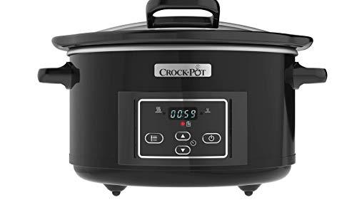 Crockpot CSC052X-01 Digital-Schongarer | Das Original aus den USA | Digitaler Countdown-Timer | Warmhaltefunktion | 4,7 l Fassungsvermögen | Schwarz