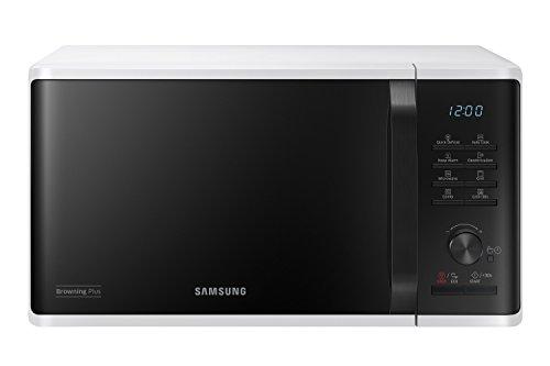 Samsung MG23K3515AW Forno a Microonde, 800 W+1100 W, Rapido Defrost, 23 Litri, Bianco