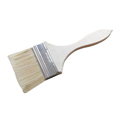 OUNONA 3 Zoll Paint Borstenpinsel Flachpinsel für Maler Flecken Lacke Kleber und Gesso