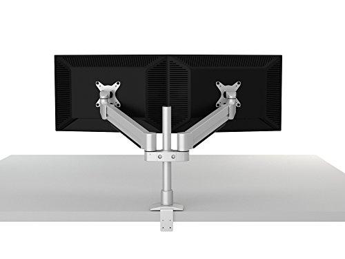 thingyclub Gas Spring Universal Double Twin LCD-LED-Schreibtisch Mount Monitor Arm Ständer Halterung mit Tilt- und Swivel (einstellbar Monitor Arm: Neigung + 90°,-45° |Swivel 180° |Rotate 360°). -