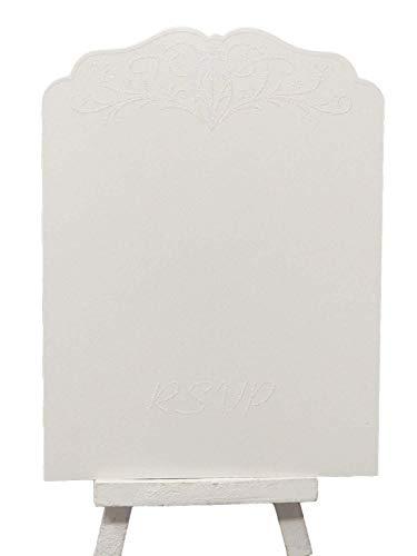 RSVP Hochzeit Karten Glitzer Karte und Sparkle inkl. Umschläge vorgedruckt auf der Rückseite