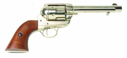Deko Colt Revolver 1873 Kal. 45 5,5 Zoll nickel -