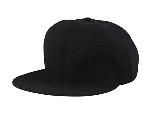 FabSeasons Casual Black Snapback, HipHop, Flat Cap  available at amazon for Rs.299