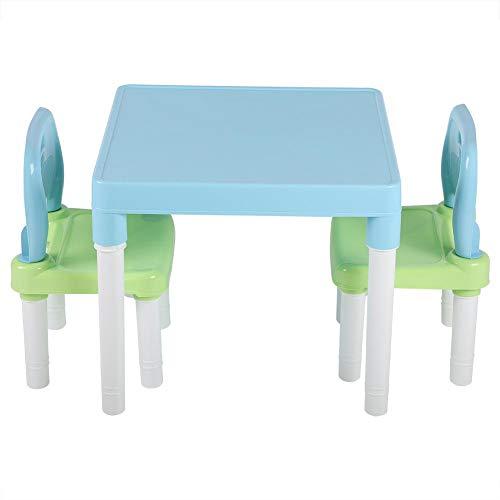 Wosume Juego de sillas de Mesa para niños, Juego de sillas de Mesa de plástico para niños.