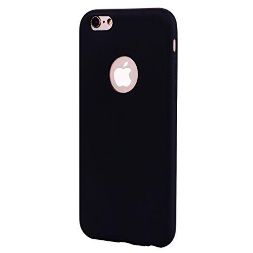 Custodia iPhone 6/6s Case Kcdream Fashion Moda Ultraslim TPU Caso Elegante Carina Souple Flessibile Morbido Silicone Copertura Perfetta Protezione Shell Paraurti Custodia Per iPhone 6 iPhone 6s (4.7 P Nero