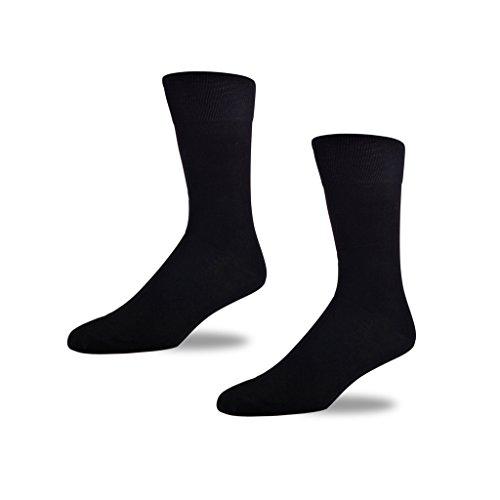 Preisvergleich Produktbild STÓR Herren Bambus Socken [2er Pack] , Antibakterielle, atmungsaktive Herrensocken mit 80% Bambusfaser-Anteil! superweiches und luxuriöses Material (Gross (43-46EU / 9-12UK), Schwarz - Schwarz)