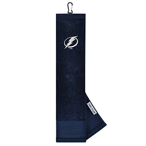 Team Effort NHL Handtuch, dreifach gefaltet, Bestickt, Tampa Bay Lightning Face/Club Tri-Fold Embroidered Towel, Multi - Tampa Bay Lightning Hockey Club