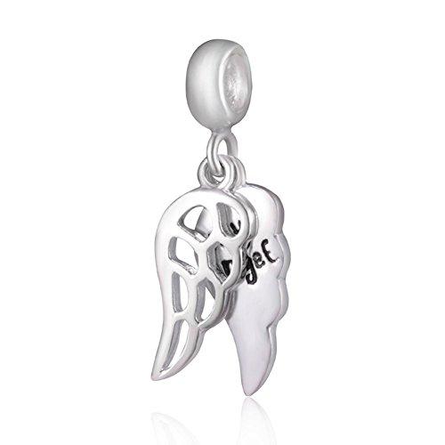 Loving my europea soulbead a forma di angelo, in argento sterling 925, pendente a forma di ali con marchio europea