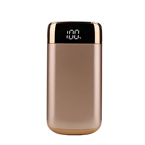 DJym 10000mAh Power Bank Ultra High Capacity Externe Batterie Pack mit LED-Taschenlampe Portable Charger kompatibel mit iPhone, iPad, Samsung und mehr,Gold