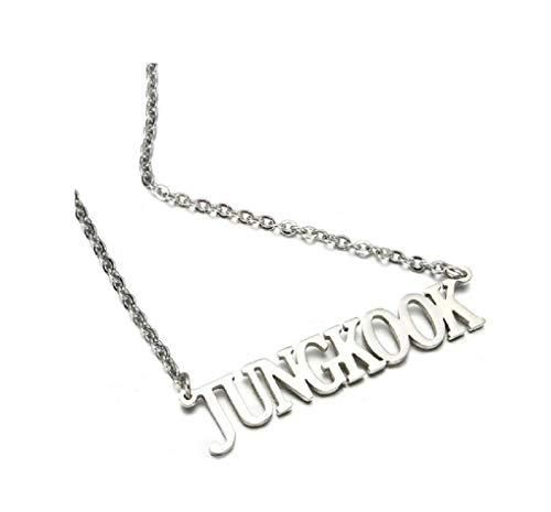 BTS Halskette mit Anhänger | KPOP Bangtan Jungen Jungkook, Jimin, V, Suga, Jin, J-Hope, Rap Monster Schmuck Halskette The Army (Jungkook, OneSize)