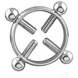SALLYDREAM 1 Tensión de la PC Anillo de pezón Redondo Ajustable Sin níquel Sexo Foreplay Steel