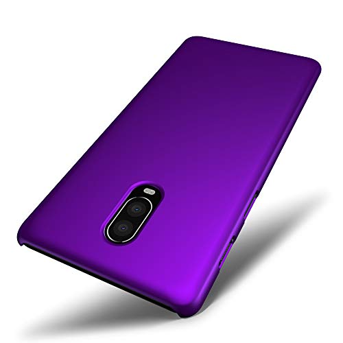 SLEO Custodia OnePlus 6T, Cover per OnePlus 6T Thin Fit [Cover Sottile & Robusto] Rivestimento Soft-Feel, Ultra Leggero Protetto PC Duro Case - Viola