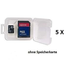 RYDGES RMT-KBSK5 5 Stück Kunststoffbox für Speicherkarten SD/MMC/MINISD/microSD/micro SD SDHC Aufbewahrung Aufbewahrungsbox Aufbewahrungsschachtel Schachtel SD Karte Box