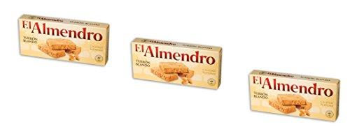 El Almendro -Turron Blando – Das Packet enthält 3 Nougat mit gerösteten...