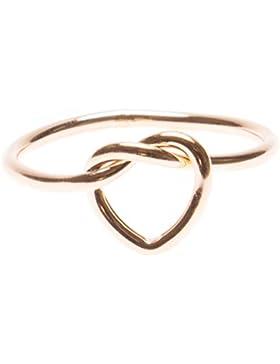 Happiness Boutique Damen Ring mit Herz Knoten | Minimalist Ring in Rosegold nickelfrei