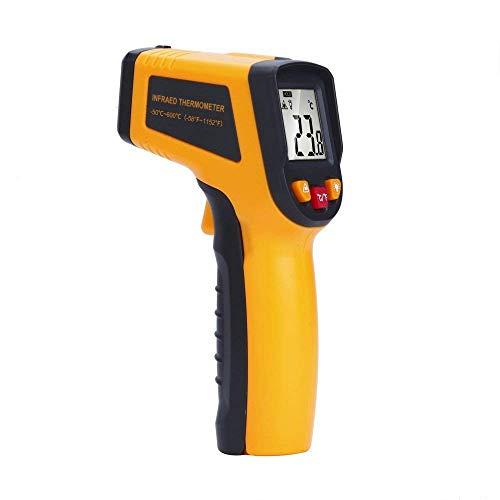 Berührungslose Laser Infrarot-Thermometer Temperatur Pistole mit Temperaturmesser Digital C/F Auswahl Oberfläche, Gelb und Blau -58℉~1152℉(-50℃~600℃) gelb