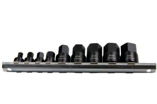 vorlux 9pc 1/10,2cm & 3/20,3cm DR Stubby Auswirkungen Bit Stecknuss Satz 6–19mm B1348 - Dr 19mm Hex Bit