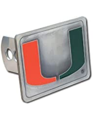 College Trailer Hitch Cover - Miami Hurricanes by Siskiyou