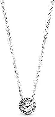 PANDORA Pendant Necklace for Women, 45 cm, 396240CZ-45 (Silver)