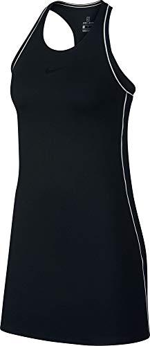 Nike Damen W NKCT Dry Kleid, Schwarz (Black/White), S - Damen Tennis-bekleidung Nike