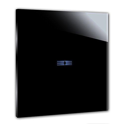 Preisvergleich Produktbild ROHDE+ROHDE® schwarzer Touch Lichtschalter mit LED Anzeige. Markenqualität aus Deutschland. 5 J. Garantie** Sensor Panel aus Mammuth-Glas. 1-fach. Für Standardinstallation 230V. TRITON 10.02.06.001