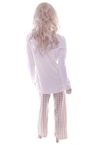 Waites - Ensemble de pyjama -  - À carreaux Femme Blanc - Blanc