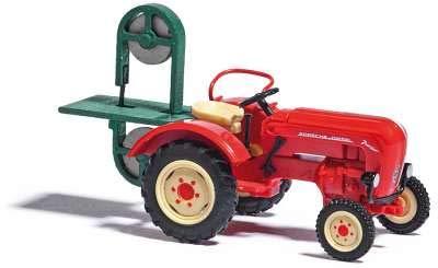 Busch 50011 Traktor Porsche Junior K mit Bandsäge 1/87